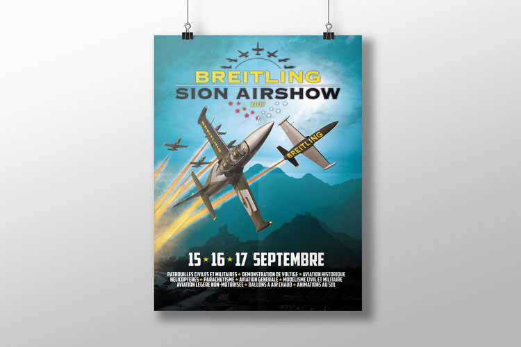 Affiche «Breitling Sion Air Show»