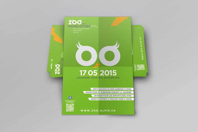 Flyers «Zoo des Marécottes»