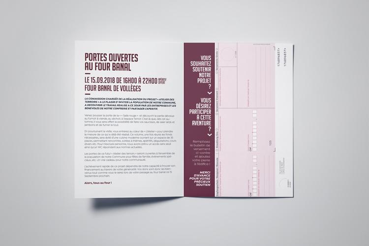 Dépliant «Four banal Vollèges»