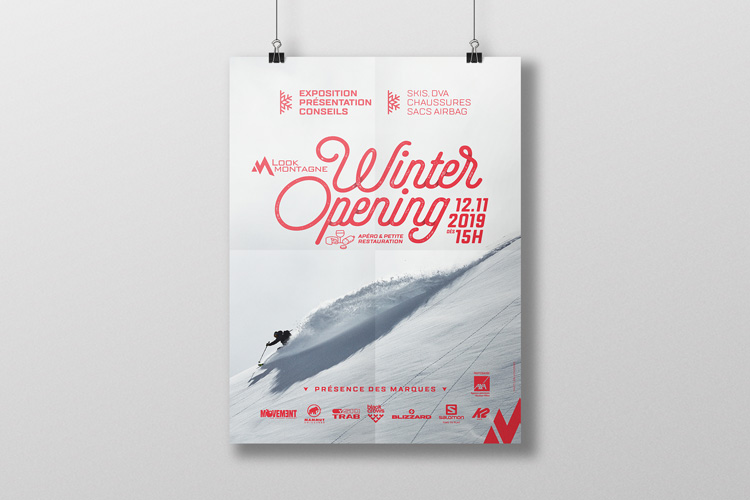 Affiche «Winter opening»