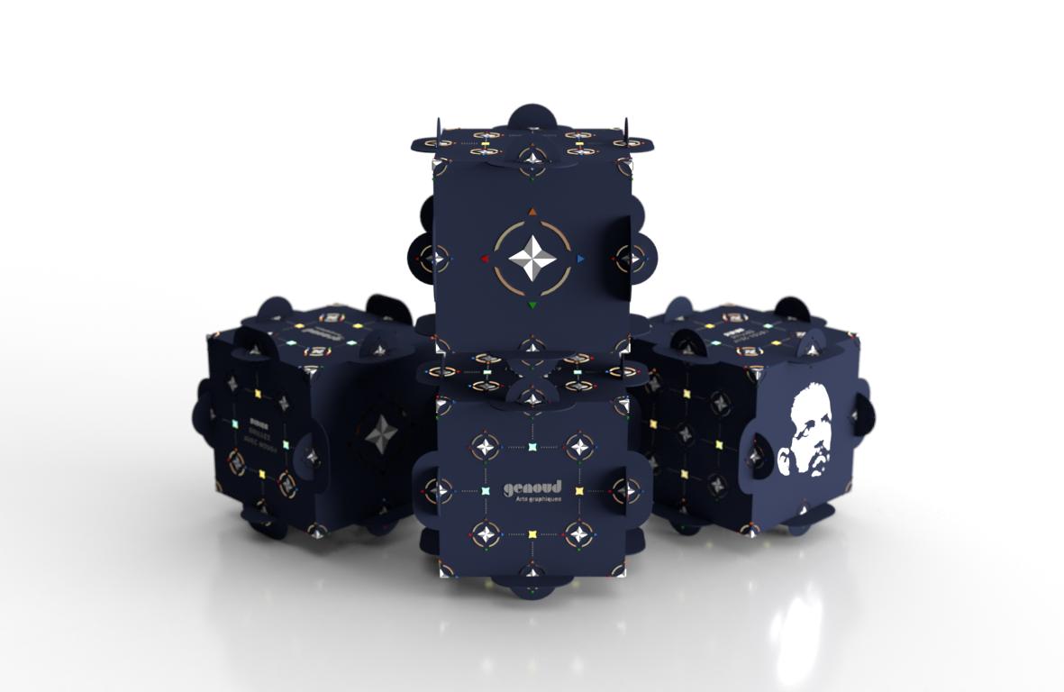 Cube «Genoud arts graphiques»